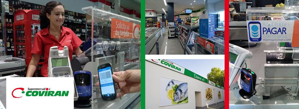 Supermercado Covirán,Calle Orson Welles, en Teatinos, Málaga.