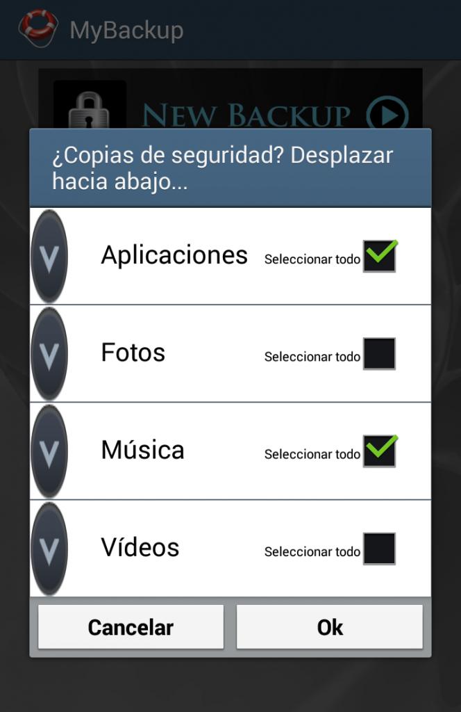 MyBackUp, app para realizar copias de seguridad en el móvil