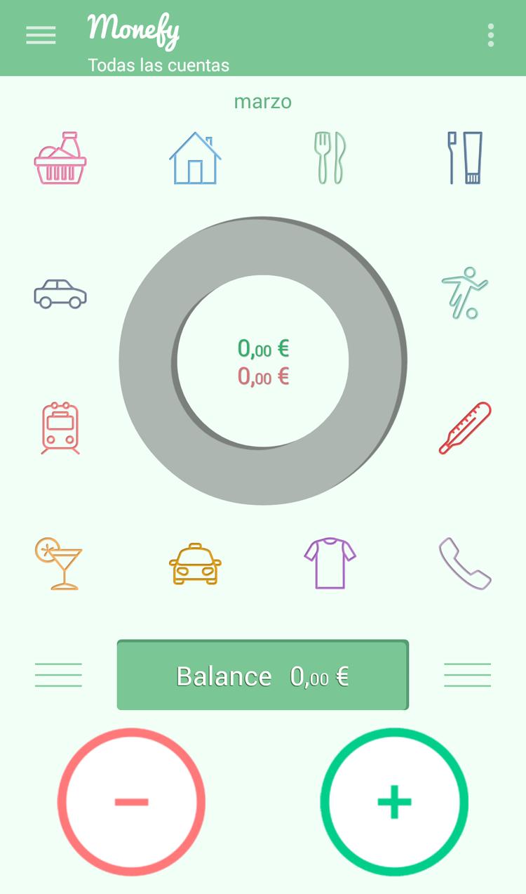 App Monefy finanzas personales