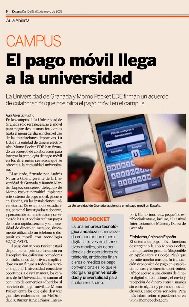 Momo Pocket y la Universidad de Granada en Aula Abierta